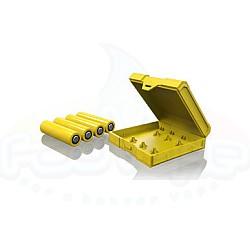 Κουτάκι πλαστικό για 4 μπαταρίες 18650 Chubby Gorilla Yellow